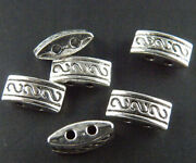 150pcs Tibetan Silver 2-hole Spacers Beads 10x3.5mm Zn2089