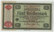 Germany 5 Reichmark 1934 Pick 207 Aunc Almost Banknote Uncirculated