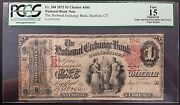 1875 National Exchange Bank Of Hartford, Ct, One Dollar Note Graded F 15 By Pcgs