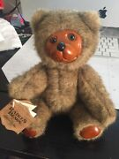 Hand Crafted Wood Art Toy Robert Raikes Bear Jaime 5453 Grizzly Brown 9 1986