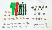 Lot Of 104 Monopoly Replacement Parts Lot Pewter Figures Star Wars Narnia Etc.