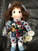 Precious Moments 12andrdquo Doll Blue Bell February Garden Of Friends New