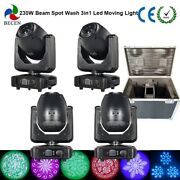 Fast Ship 200w 3in1 Led Moving Head Beam Spot Wash Light 4pcs With Flight Case