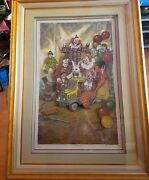 George Crionas Hand Signed Artist Act 1 36 Of 550 3d Clowns Rare