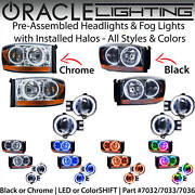 Oracle Halo Headlights And Fog Lights For 2006 Dodge Ram Pickup Truck All Colors