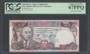 Afghanistan 1000 Afghanis Sh1356 1977 P53cs Specimen Perforated Uncirculated