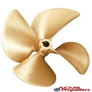 Acme 13.5 X 13.75 Inboard Propeller Left Hand Nibral Cupped 1 1/8 Bore 4 Blade
