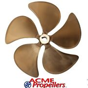 Acme 13 1/2 X 14 1/2 Inboard Propeller Right Hand Nibral 1 1/8 Bore 5 Blade Cup