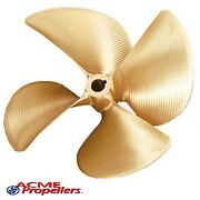 Acme 13.5 X 19 Inboard Propeller Right Hand Nibral Cupped 1 1/8 Bore 4 Blade
