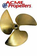 Acme 13 X 12.625 Inboard Propeller Left Hand Nibral Cupped Splined Bore 3 Blade