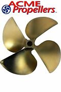 Acme 13.5 X 17.5 Inboard Propeller Left Hand Nibral Cupped Splined Bore 4 Blade