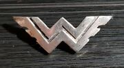 Hikers Brooch Logo Silver Arched Old + Original Rare - Mass 1 5/16x0 15/32in
