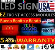 Led Sign 25x75 10mm Red Color-outdoor Programmable Board Made In Usa