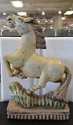 Vintage Carved Wood Painted Horse Statue