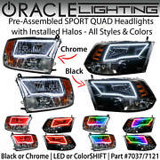 Oracle Pre-assembled Halo Sport-quad Headlights For 09-18 Dodge Ram All Colors