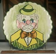 Clown Serving Platter Plate 12-1/4 Inch - Hand Painted Signed Bailey 1987