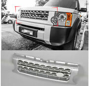 For Land Rover Discovery Lr3 Silver Front Grille Bumper Honey Comb Mesh Grill