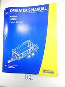 New Holland Operator's Owner's Manual M2080 M2090 Manure Spreader