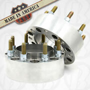 2pc Usa Made 8 Lug 6.5 Chevy Hub Centric Wheel Spacer 1.25 Thick Steel Ring