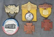 3 Gar Woman's Relief Corps Encampment Medals Aid, 32nd And 43rd,