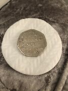 Very Rare 50p Coin. Samuel Johnsonand039s Dictionary 1755. Saxon Plural Of Penny.