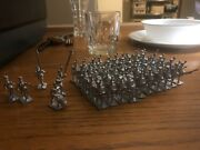 Lot Of 55 Unpainted Lead Soldiers Musket Drummer Flag 1812 Revolution