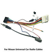 Car Android Stereo Radio Mp3 Wiring Harness Connector Adaptor Cable For Nissan