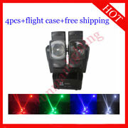 812w Rgbw 4 In 1 Two Head Led Beam Moving Head Dj Stage Light 4pcs With Case