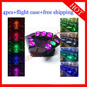 912w Rgbw 4 In 1 Led Beam Moving Head Dj Disco Stage Wash Light 4pcs With Case