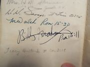 1917 Scofield Reference Bible - Signed By Billy Graham And Others