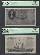 South Africa Face And Back 5 Pounds 29-11-1947 Photograph Proof Uncirculated