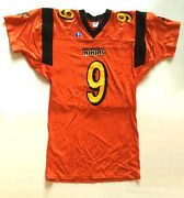 New Haven Ninjas Game Issued Size L + 2 9 Arena Football League Jersey Rare