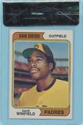 Wrong Back Error 1974 Topps Dave Winfield 456 Rookie Card Bvg 8.5 Centered