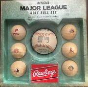 Vintage Official Major League Mlb Golf Ball Set - Rawlings Very Rare New In Box