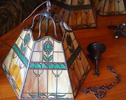 Handel Abstract Tulip Ceiling Fix 1 Of 2 Available,lamp,mission,arts And Crafts