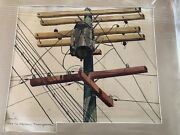 Stanley Huber Wood The Step Down Transformer Collectible Antique Watercolor