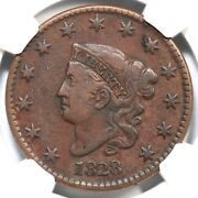 1828 N-4 R-4 Ngc Vf 30 Lg Date Matron Or Coronet Head Large Cent Coin 1c