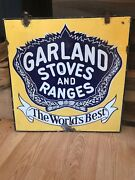 Porcelain Antique Double Sided Garland Stoves And Ranges Advertising Sign