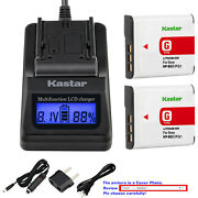 Kastar Battery Lcd Fast Charger For Sony Np-bg1 Sony Cyber-shot Dsc-h10 Camera