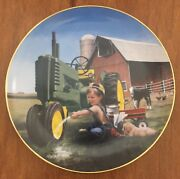 Little Farmhands Limited Edition Plates By Donald Zolan Complete Set Of 8