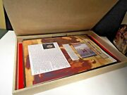 33 Rare Bible Pages In Facsimile - Large Clamshell Box- Ready To Frame-