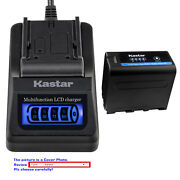 Kastar Battery Fast Charger For Sony Np-f970 Pro Sony Gv-d800 Gv-d900 Gv-hd700e