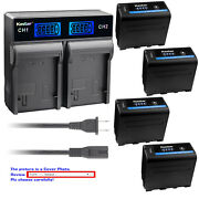 Kastar Battery Rapid Charger For Sony Np-f970 Pro Sony Gv-d800 Gv-d900 Gv-hd700e