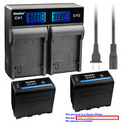 Kastar Battery Lcd Rapid Charger For Sony Np-f970 Pro Dcr-vx700 Dsr-200 Gv-a500e