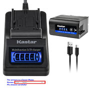 Kastar Battery Lcd Quick Charger For Sony Np-f970 Sony Gv-d800 Gv-d900 Gv-hd700e