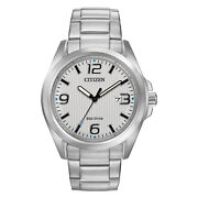 Citizen Eco-drive Menand039s Chandler Silver-tone Dial Bracelet 43mm Watch Aw1430-86a