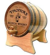 Bagpiper Scotch Personalized White Wood Oak Barrel For Aging Whiskey And Spirit