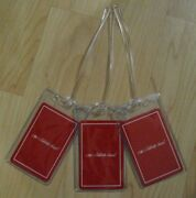 Celebrity Cruises Luggage Tags - Cruise Ship Playing Cards Red Bag Tag Set 3