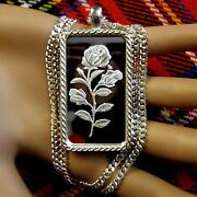 New Sterling Silver Celtic Bullion Pendant With 1oz Fine Silver Ingot And Chain