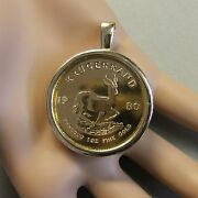 18ct Gold New Pendant Will Fit A One Oz Fine Gold Krugerrand Bullion Coin